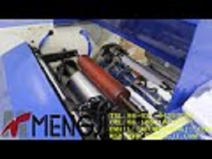 MJ D300 Full automatic perforating PE and PVC cling film rewinding machine