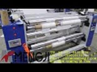 MJ E500 Semi automatic cling film rewinding machine